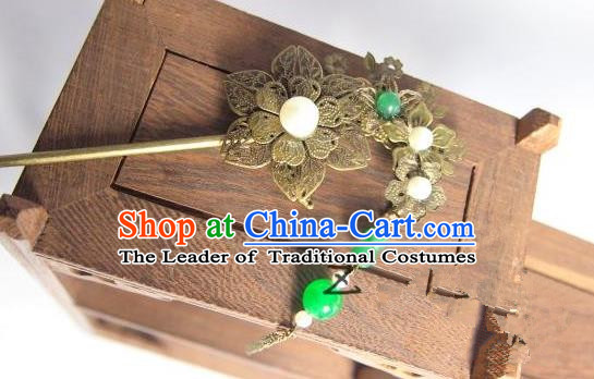 Traditional Chinese Ancient Jewelry Accessories, Ancient Chinese Imperial Princess Wedding Hair Step Shake, China Wedding Bride Hairpin for Women