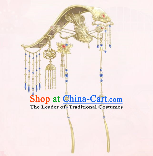Traditional Chinese Ancient Jewelry Accessories, Ancient Chinese Imperial Emperor Crown, Tang Dynasty Female Emperor Wu Zetian Crown for Women