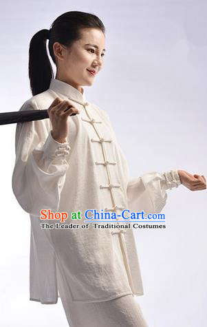 Top Signature Cotton Kung Fu Costume Martial Arts Kung Fu Training Uniform Gongfu Shaolin Wushu Clothing Tai Chi Taiji Teacher Suits Uniforms for Women