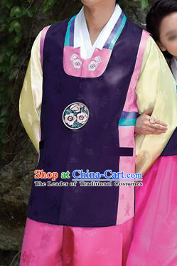 Traditional Korean Costumes Bridegroom Formal Attire Ceremonial Cloth, Asian Korea Hanbok Embroidered Clothing for Men