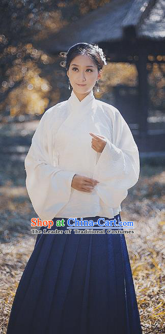 Traditional Chinese Ming Dynasty Nobility Lady Embroidered Silk Dress Costume, Asian China Ancient Hanfu Dress Clothing for Women