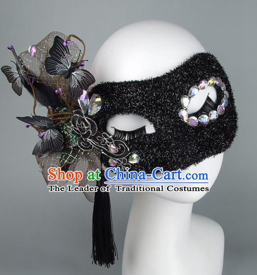 Handmade Halloween Fancy Ball Accessories Exaggerate Mask, Ceremonial Occasions Miami Deluxe Fancy Ball Face Mask