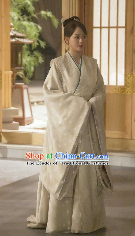 Traditional Chinese Sui Dynasty Imperial Empress Embroidered Costume, Asian China Ancient Queen Dress Clothing Complete Set
