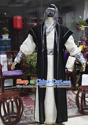 Traditional Ancient Chinese Swordsman Costume, Asian Chinese Song Dynasty Kawaler Clothing for Men