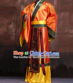 Traditional Ancient Chinese Emperor Royal Highness Costume, Asian Chinese Han Dynasty Majesty Hanfu Clothing for Men