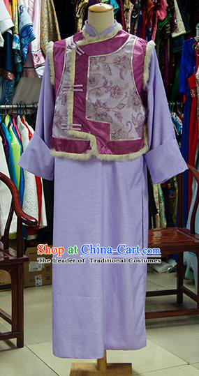 Traditional Ancient Chinese Manchu Prince Costume, Chinese Qing Dynasty Royal Highness Clothing for Men