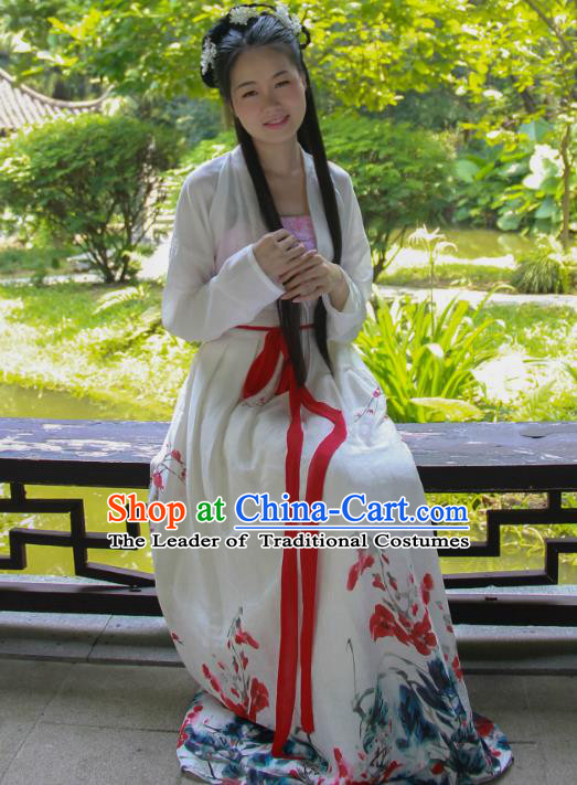 Traditional Ancient Chinese Imperial Consort Costume, Asian China Tang Dynasty Imperial Empress Clothing for Women