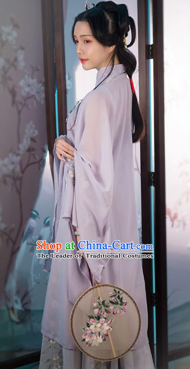 Traditional Ancient Chinese Princess Hanfu Costume Embroidered Blouse and Skirt, Asian China Ming Dynasty Imperial Concubine Clothing for Women