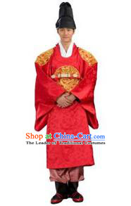 Traditional Korean Costumes Bridegroom Formal Attire Ceremonial Clothes, Korea Court Embroidered Clothing for Men
