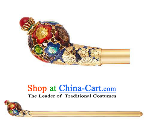 Traditional Korean National Hair Accessories Blueing Hairpins, Korean Palace Hanbok Fashion Headwear for Women