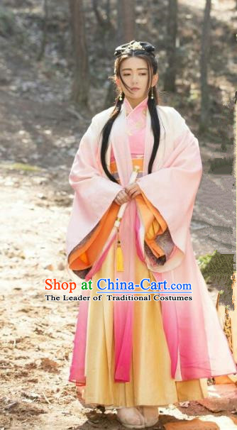 Traditional Chinese Tang Dynasty Nobility Lady Costume, Chinese Ancient Princess Embroidered Dress Clothing for Women