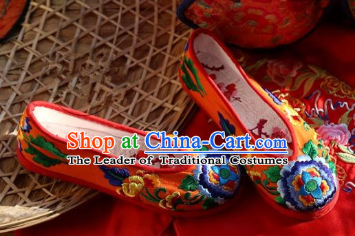 dd4c61ed78091c Asian Chinese Traditional Shoes Wedding Black Embroidered Shoes ...