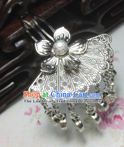Traditional Chinese Ancient Classical Hair Accessories Hanfu Tassel Hair Clip Bride Hairpins for Women