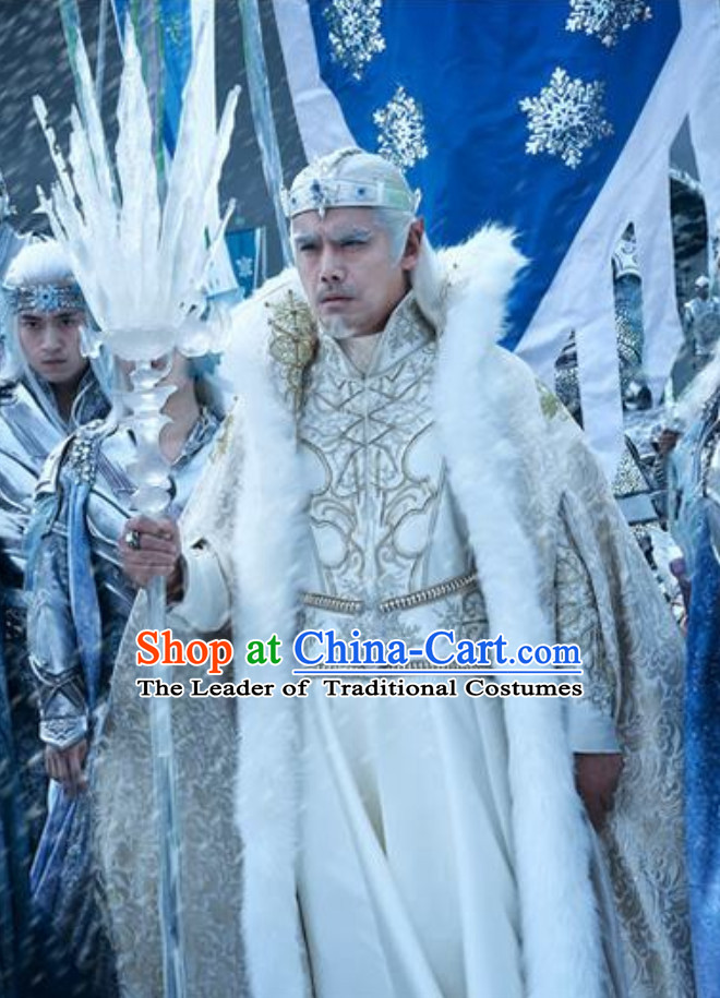 Ice Fantasy Emperor Hanfu Style Costumes Complete Set for Men