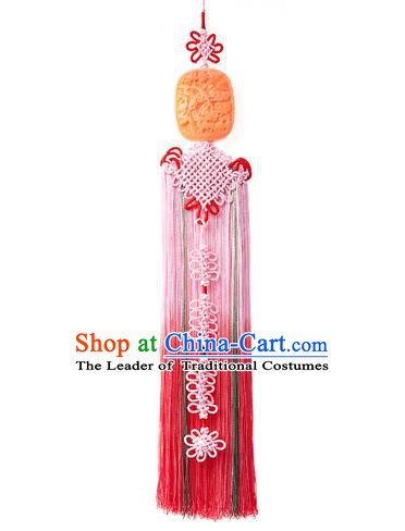Traditional Korean Accessories Jade Waist Pendant, Asian Korean Fashion Wedding Tassel Waist Decorations for Women