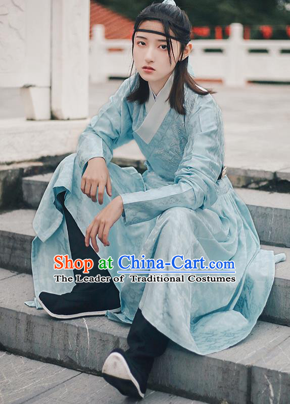 Traditional Chinese Ming Dynasty Female Swordsman Clothing Ancient Imperial Guards Hanfu Embroidered Costume for Women