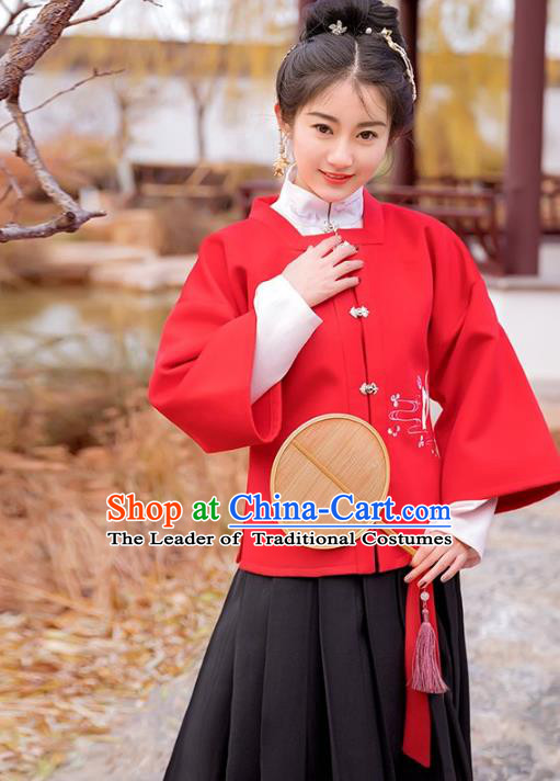 Traditional Chinese Ming Dynasty Princess Costume Ancient Palace Lady Hanfu Embroidered Clothing for Women
