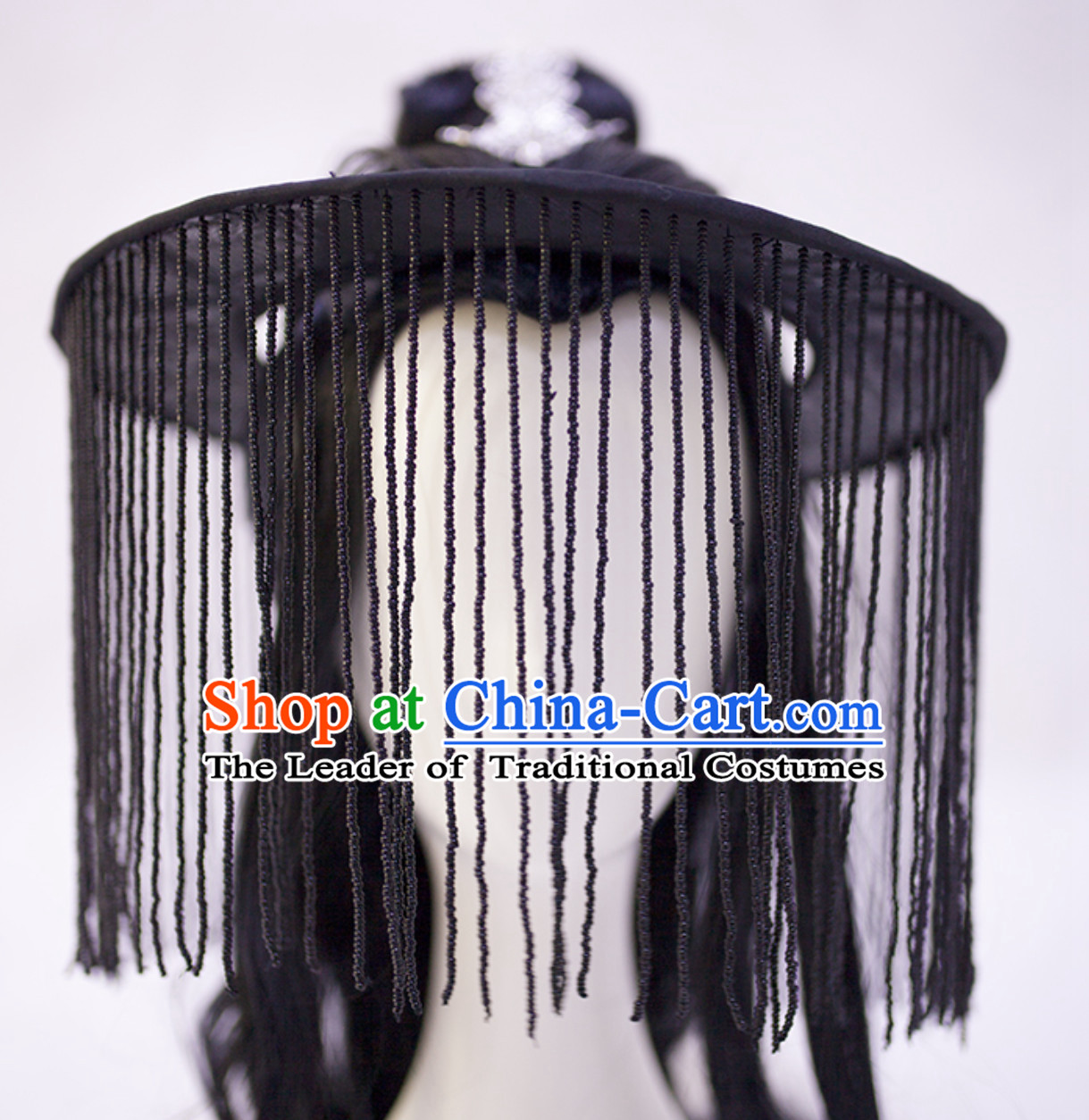 Black Chinese Ancient Tang Dynasty Swordsman Style Hat