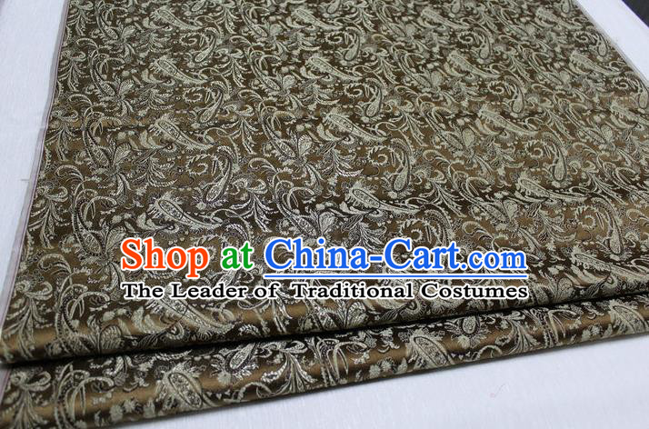 Chinese Traditional Clothing Palace Pattern Tang Suit Bronze Brocade Ancient Costume Mongolian Robe Satin Fabric Hanfu Material