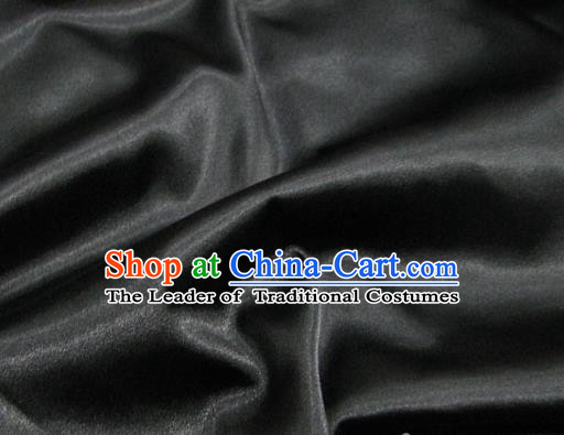 Chinese Traditional Royal Court Black Brocade Xiuhe Suit Fabric Ancient Costume Tang Suit Cheongsam Hanfu Material