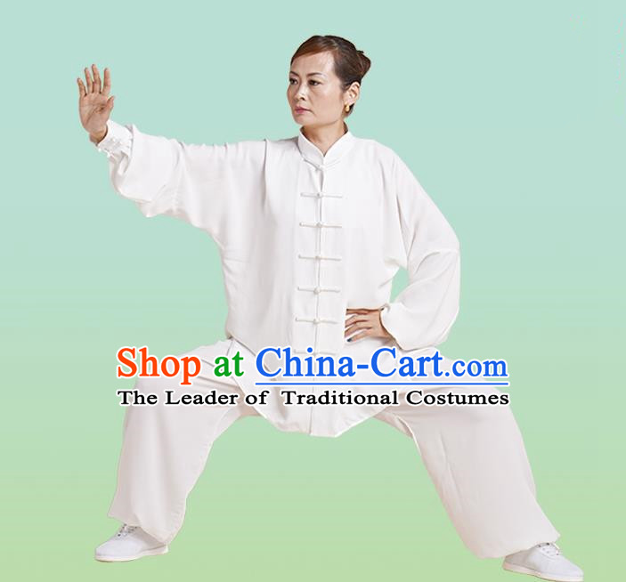 Top Grade Chinese Linen Kung Fu Costume, China Traditional Martial Arts Kung Fu Training Uniform Wushu Clothing for Women