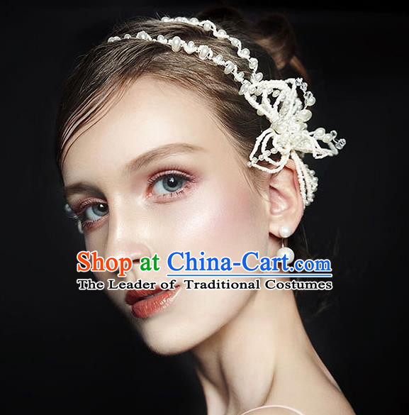 Chinese Traditional Bride Hair Jewelry Accessories Wedding Baroque Retro Pearls Hair Clasp for Women