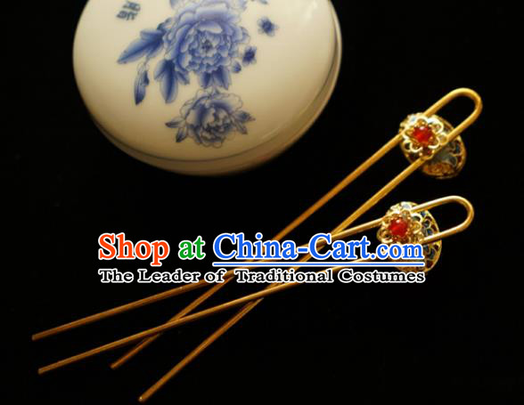 Chinese Traditional Bride Hair Accessories Xiuhe Suit Wedding Cloisonn Hanfu Hairpins for Women