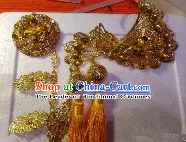 Chinese Traditional Ancient Princess Hair Accessories Handmade Hairpins Tassel Step Shake for Women