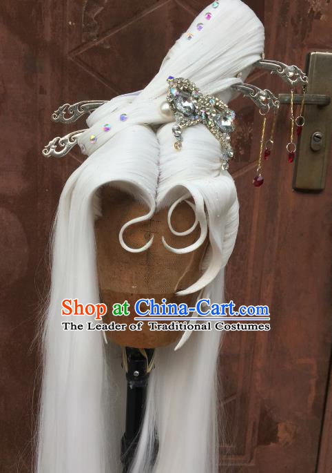 Chinese Traditional Ancient Princess Hair Accessories Handmade Fairy Hairpins Tassel Step Shake for Women