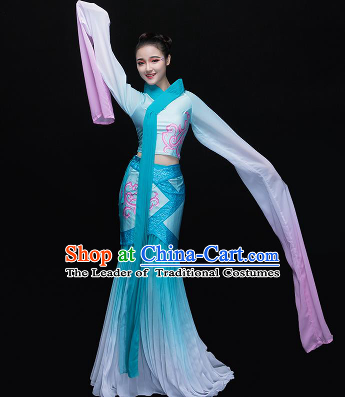 Traditional Chinese Classical Dancing Costume, China Yangko Costume Fairy Dance Hanfu Clothing for Women