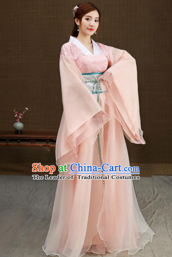 Traditional Chinese Han Dynasty Palace Lady Costume, China Ancient Princess Hanfu Clothing for Women