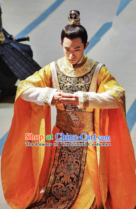 Traditional Chinese Tang Dynasty Imperial Prince Clothing Ancient Nobility Childe Embroidered Costume for Men