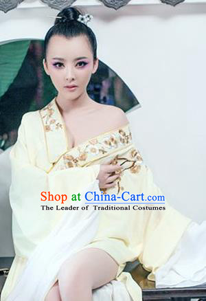 Traditional Ancient Chinese Opera Costume, Elegant Hanfu Clothing Chinese Tang Dynasty Hua Tan Water Sleeve Embroidered Clothing for Women