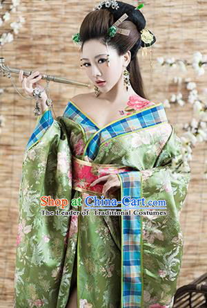 Traditional Ancient Chinese Imperial Consort Kimono Costume, Elegant Hanfu Clothing, Chinese Tang Dynasty Kimono Imperial Emperess Embroidered Clothing for Women