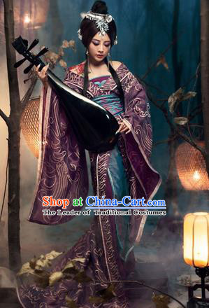 Traditional Ancient Chinese Imperial Consort Costume, Elegant Hanfu Clothing, Chinese Tang Dynasty Imperial Emperess Embroidered Clothing for Women