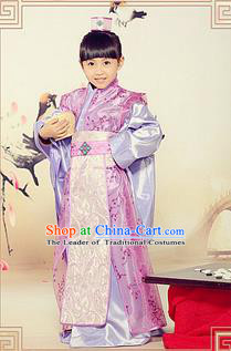Traditional Ancient Chinese Royal Highness Children Costume, Children Elegant Hanfu Clothing Chinese Tang Dynasty Imperial Prince Clothing for Kids