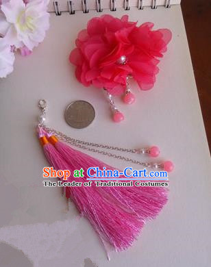 Traditional Handmade Chinese Ancient Classical Hair Accessories Hairpin, Pink Hair Claws for Women