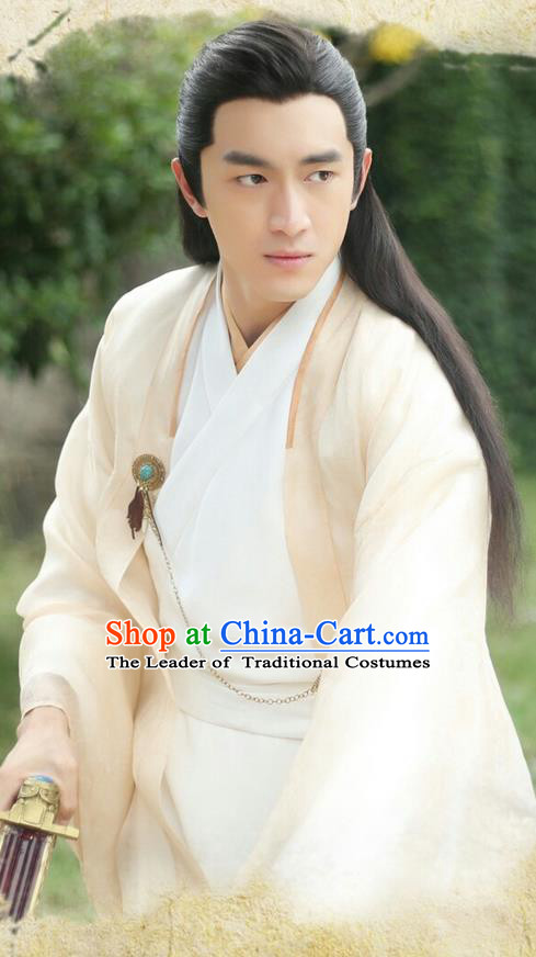 Traditional Ancient Chinese Imperial Prince Costume, Elegant Hanfu Palace Nobility Childe Robe, Chinese Han Dynasty Swordsman Clothing for Men