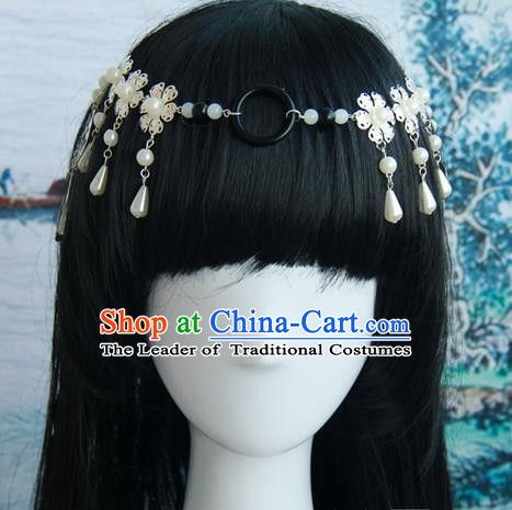 Traditional Handmade Ancient Chinese Tang Dynasty Imperial Empress Hair Decoration and Wig Complete Set, Ancient Chinese Cosplay Fairy Queen Hairpin and Wig for Women