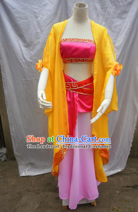Traditional Ancient Chinese Classical Cartoon Character Nobility Lady Uniform Cosplay Game Role Han Dynasty Princess Costume Complete Set for Women