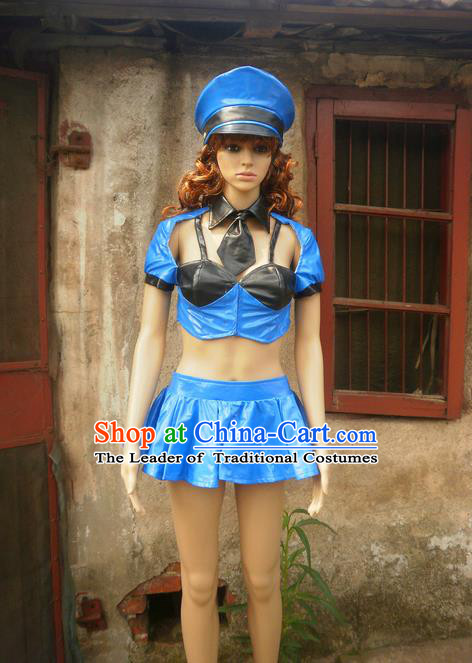 Classical Cartoon Character Cosplay Policewoman Costumes Complete Set for Women