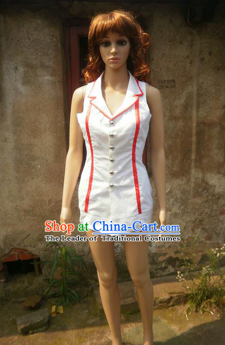 Classical Cartoon Character Cosplay Nurse Costumes Complete Set for Women