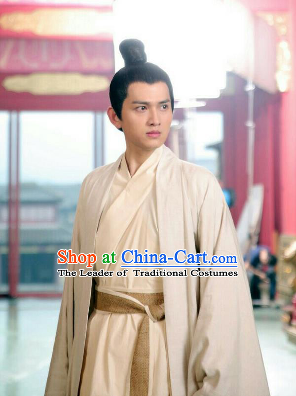 Traditional Ancient Chinese Nobility Childe Costume, Elegant Hanfu Male Lordling Dress, Warring States Literati Clothing, China Warring States Period Qu Yuan Clothing for Men