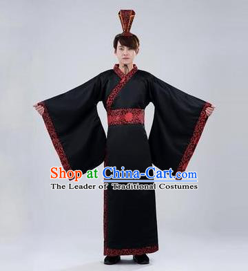 Traditional Ancient Chinese Imperial Emperor Costume, Chinese Han Dynasty Male Wedding Dress, Cosplay Chinese Imperial King Clothing Hanfu for Men