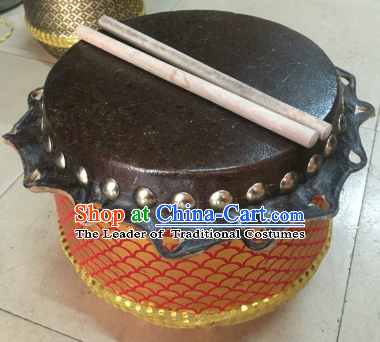 12.9 Inches Lion Dance Drum for Kids Children