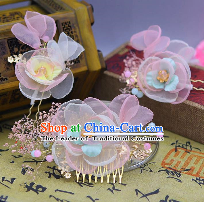 Traditional Handmade Chinese Ancient Classical Hair Accessories Bride Wedding Hairpin, Hair Claws Hair Comb for Women
