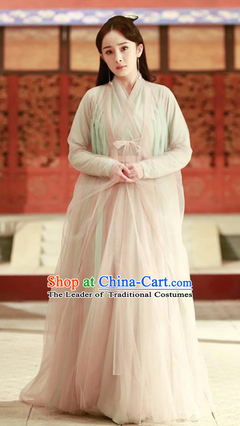 Traditional Ancient Chinese Imperial Emperess Costume, Chinese Han Dynasty Dance Dress, Cosplay Chinese Teleplay Ten great III of peach blossom Role Bai qian Peri Imperial Princess Embroidered Hanfu Clothing for Women