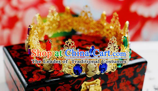 Chinese Wedding Jewelry Accessories, Traditional Xiuhe Suits Wedding Bride Flowers Headwear, Wedding Royal Crown, Ancient Chinese Harpins and Earrings for Women