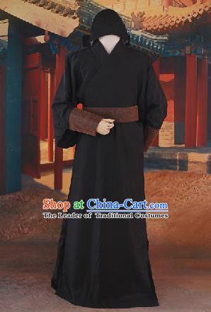 Traditional Ancient Chinese Male Costume, Chinese Han Dynasty Warrior Dress, Cosplay Chinese Hanfu Clothing for Men