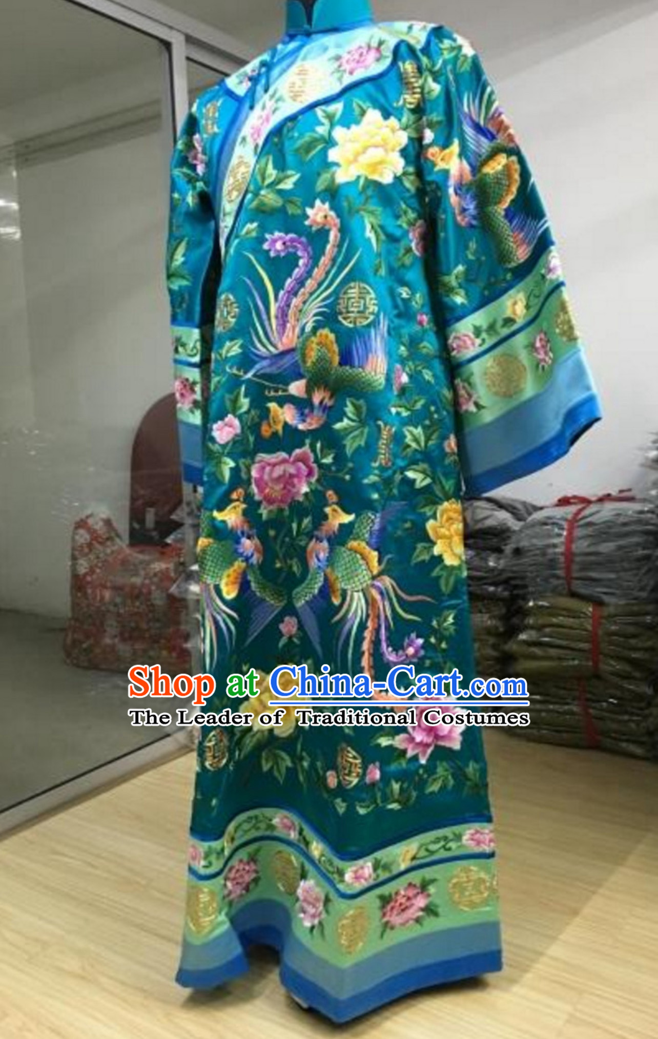 Chinese TV Drama Zhen Huan Legend Empress Embroidered Dress Clothes for Women